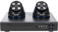 Xenta CCTV System - 4 Channel Full HD DVR with 2x Full HD Black Dome Cameras
