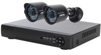 Xenta CCTV System - 4 Channel Full HD DVR with 2x Full HD Bullet Cameras