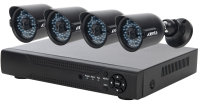 Xenta CCTV System - 8 Channel Full HD DVR with 4x Full HD Black Bullet Cameras