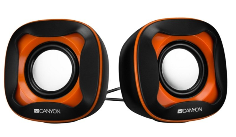 Canyon USB Orange Wired Computer 2.0 Speakers