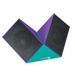 Canyon Purple/Blue Transformer Bluetooth Speakers