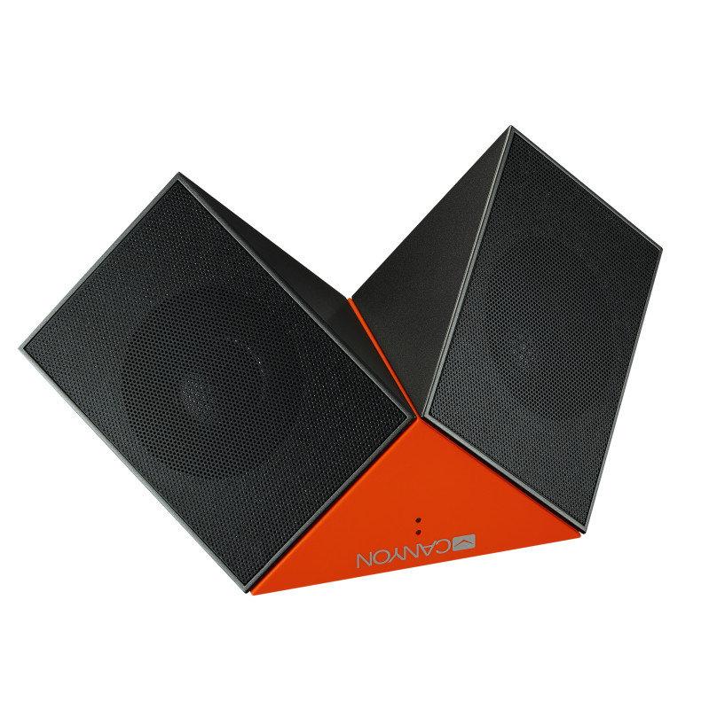 Canyon Black/Orange Transformer Bluetooth Speakers