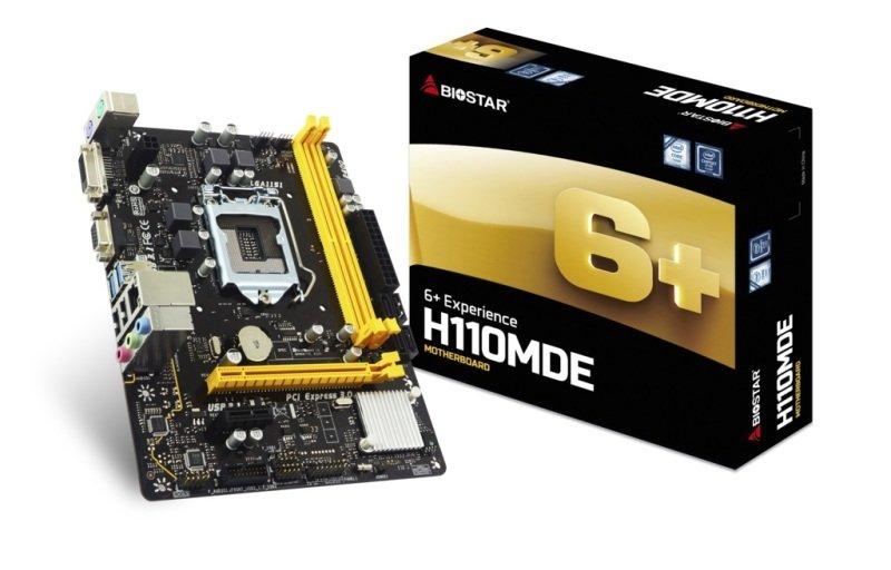 BioStar H110MDE LGA 1151 DDR4 mATX Motherboard