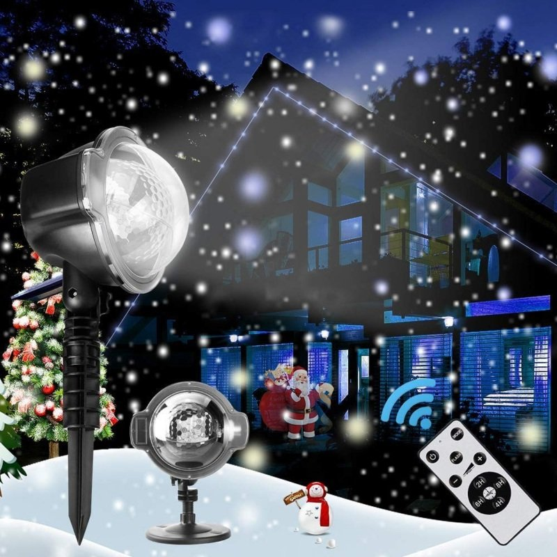 Image of 3D Rotating Patterns Projection Light - Christmas Snow