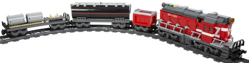 Image of 1000+ Electric Train Building Blocks