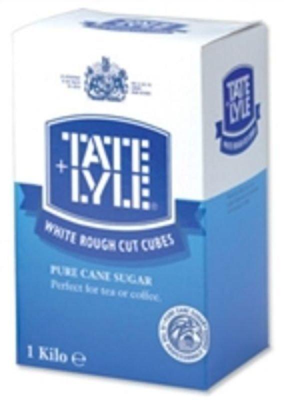 Tate & Lyle Rough Cut White Sugar Cubes - 1kg Box