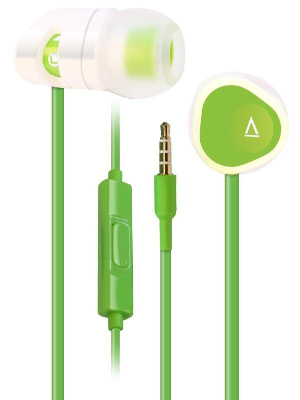 Creative MA200 Green Noise-Isolating In-Ear Headphones with In-Line Mic