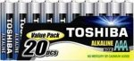 Toshiba 20 Pack of AAA Alkaline Batteries