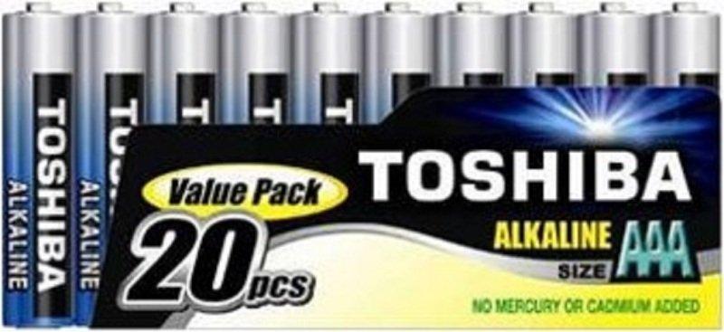 Toshiba 20 Pack of AAA Alkaline Batteries