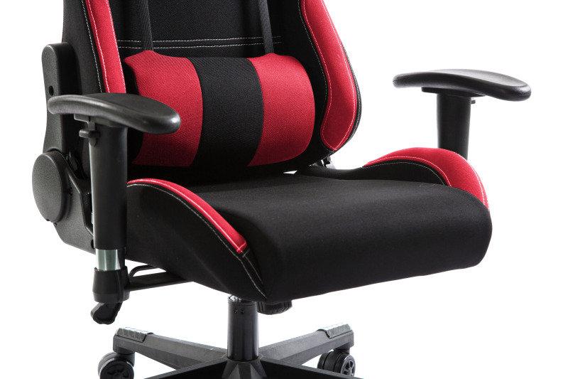 Sensational Eg Premium Gaming Chair Red And Black Fabric Creativecarmelina Interior Chair Design Creativecarmelinacom