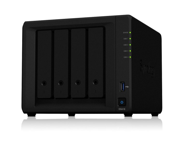 Synology DS418 4TB (4 x 1TB WD RED) 4 Bay Desktop NAS Unit