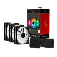 Riotoro Quiet Storm RGB 120mm Three Fan Kit and Controller