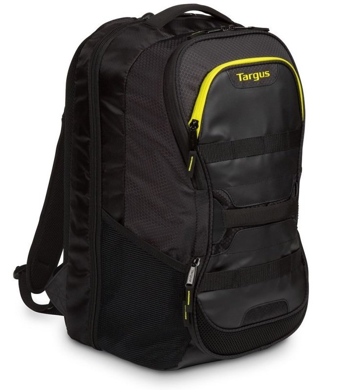 "Image of Targus Work + Play Fitness 15.6"" Laptop Backpack - Black + Yellow"