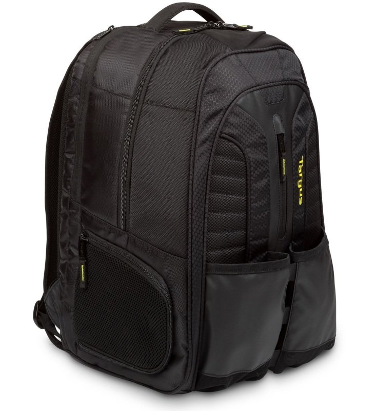 "Image of Targus Work + Play Rackets 15.6"" Laptop Backpack - Black + Yellow"