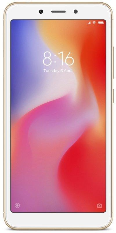 """Xiaomi Redmi 6 5.45"""" 3GB 32GB 4G Dual Sim Smartphone - Gold"""