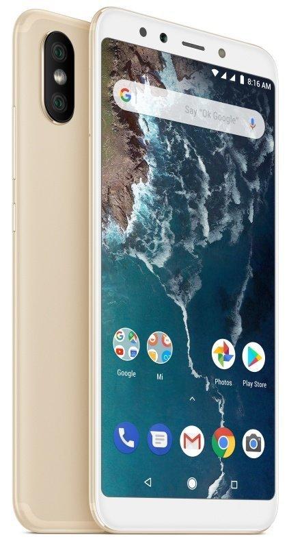 """Xiaomi Mi A2 Lite 5.84"""" 4GB 64GB 4G Dual Sim Smartphone - Gold"""