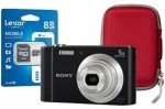 Sony DSC-W800 Black Camera Kit inc 8GB SD Card and Hard Case