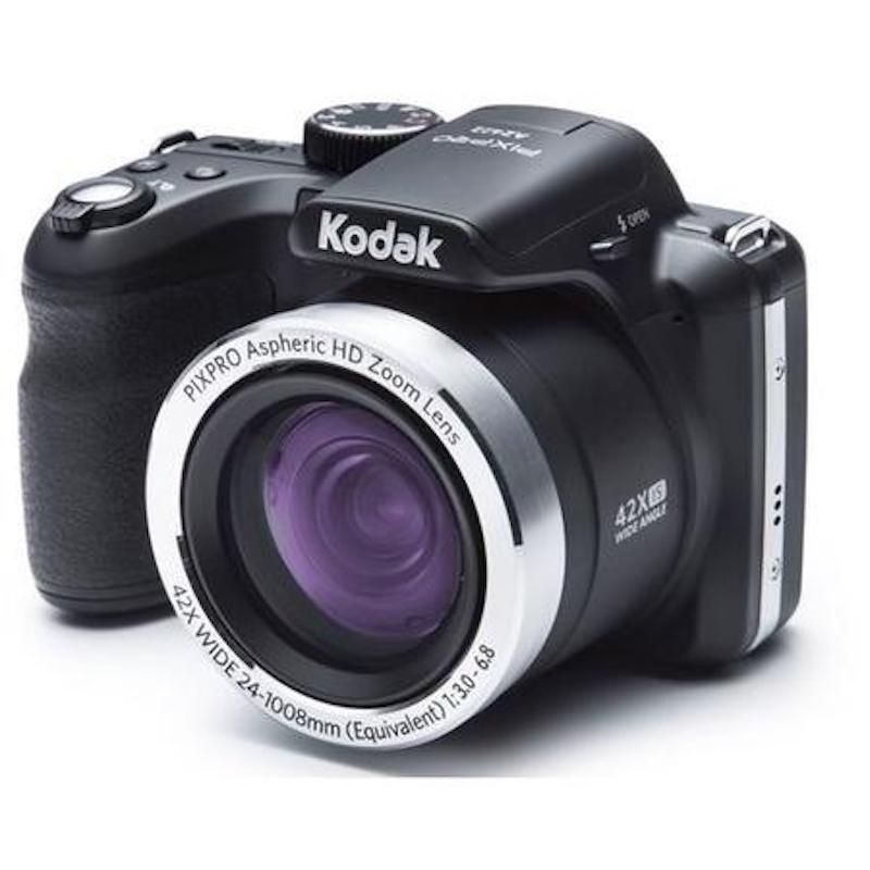 Kodak PIXPRO AZ422 Bridge Camera 20MP 42x Zoom 3.0LCD Lithium 24mm Wide Lens Blk