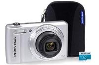 PRAKTICA Luxmedia Z212 Silver Camera Kit inc 16GB MicroSD Card & Case