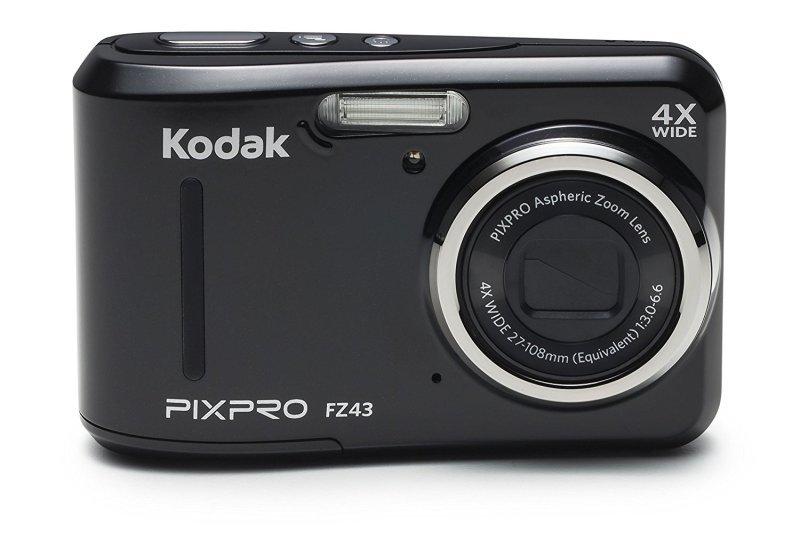 Image of Kodak PIXPRO FZ43 Camera 16MP 4xZoom 2.7LCD 27mm Wide AA Batteries Black