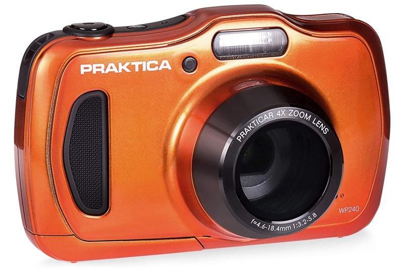 PRAKTICA Luxmedia WP240 Waterproof Camera Orange 20MP 4xZoom 64MB Internal Mem