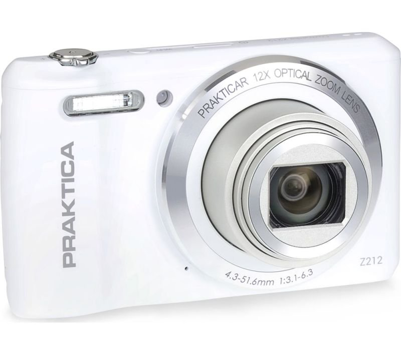 PRAKTICA Luxmedia Z212 Camera White 20MP 12xZoom 64MB Internal Memory