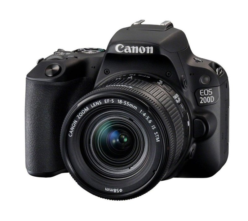 Canon EOS 2000D SLR Black Camera inc EF-S 18-55mm IS II Lens Kit