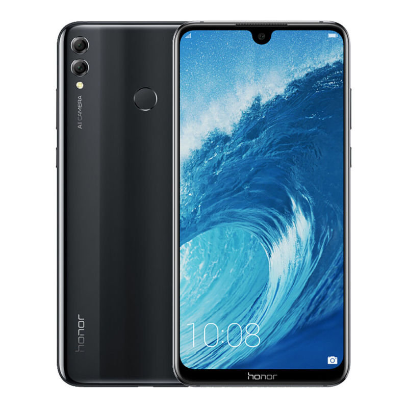Honor 8X 64GB Dual SIM Smartphone - Black SIM Free/ Unlocked