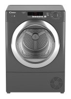 Hoover DXC8TCER Freestanding 8kg Condenser Tumble Dryer - Graphite with Chrome Door
