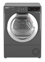 Hoover DXC9TCER Freestanding 9kg Condenser Tumble Dryer - Graphite with Chrome Door
