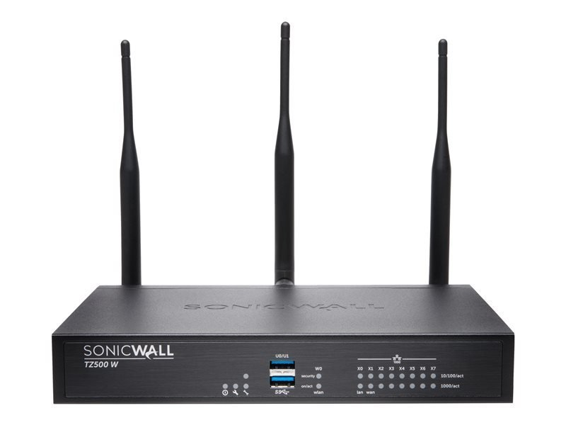 SonicWall TZ500 Wireless-AC Security Appliance with 1 Year Support Service