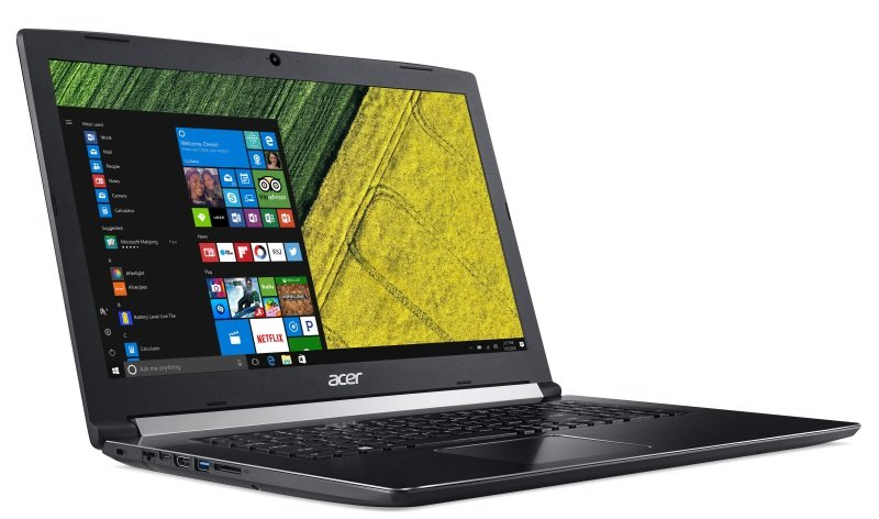 "Image of Acer Aspire 5 Pro A517 Laptop, Intel Core i7-8550U 1.8GHz, 8GB RAM, 256GB SSD, 1TB HDD, 17.3"" LED, DVDRW, Intel UHD, WIFI, Webcam, Windows 10 Pro"