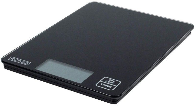 König HC-KS12N Kitchen Scale, Black