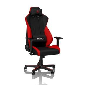 Nitro Concepts S300 Fabric Gaming Chair - Inferno Red...