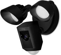 Ring Flood Light Camera with Siren - Black