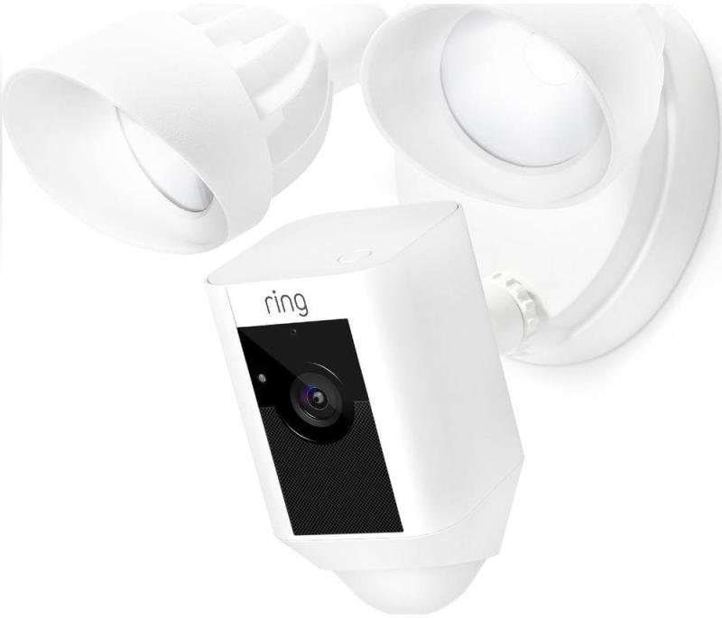 Ring Flood Light Camera with Siren - White
