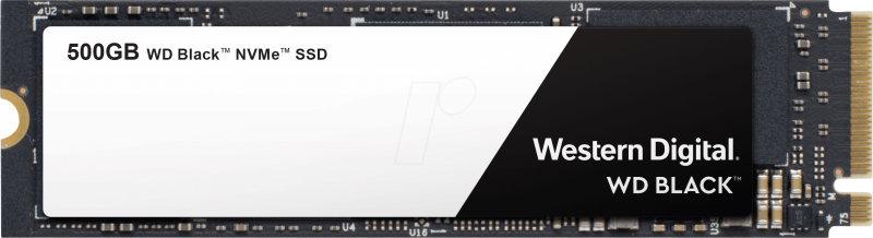 WD 500GB Black NVMe M.2 2280-S3-M PCIe SSD