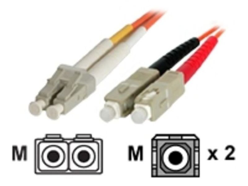 2m Multimode 62.5/125 Duplex Fiber Patch Cable LC - SC