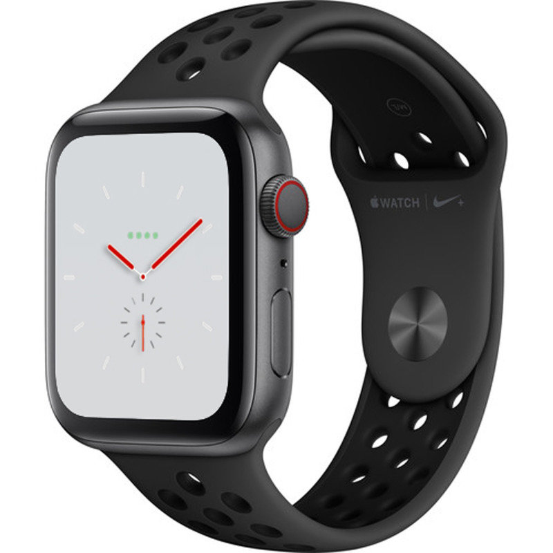 Apple Watch Nike+ Series 4 GPS + Cellular, 44mm Space Grey Aluminium Case with Anthracite/Black Nike Sport Band cheapest retail price