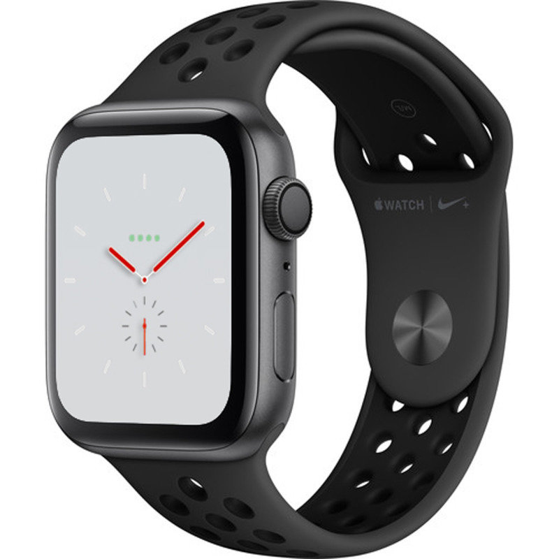 Apple Watch Nike+ Series 4 GPS, 44mm Space Grey Aluminium Case with Anthracite/Black Nike Sport Band cheapest retail price