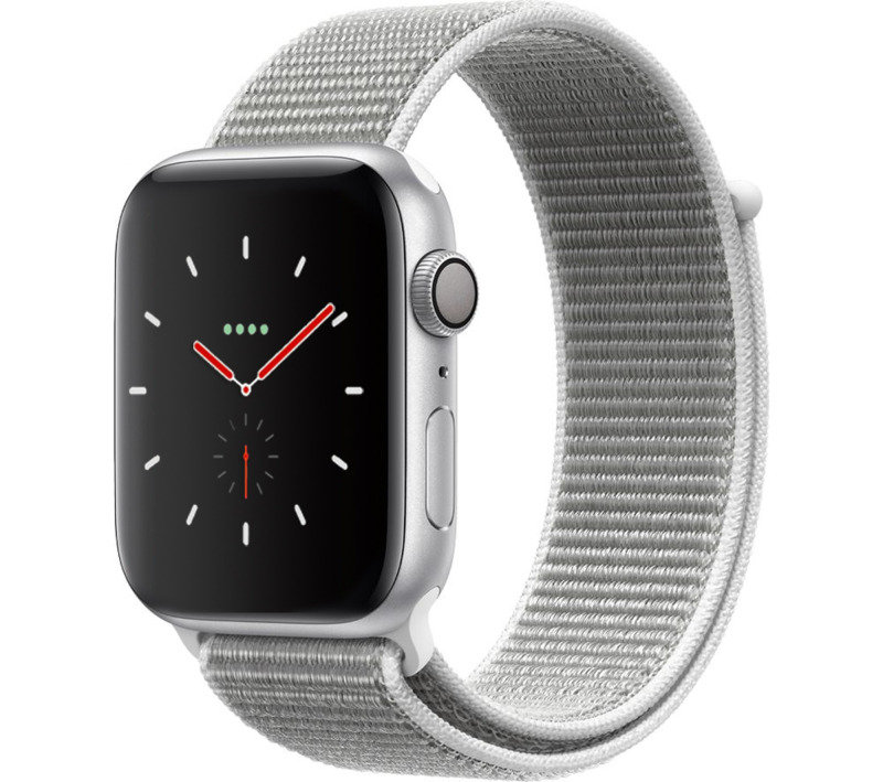 Apple Watch Series 4 GPS, 40mm Silver Aluminium Case with Seashell Sport Loop cheapest retail price
