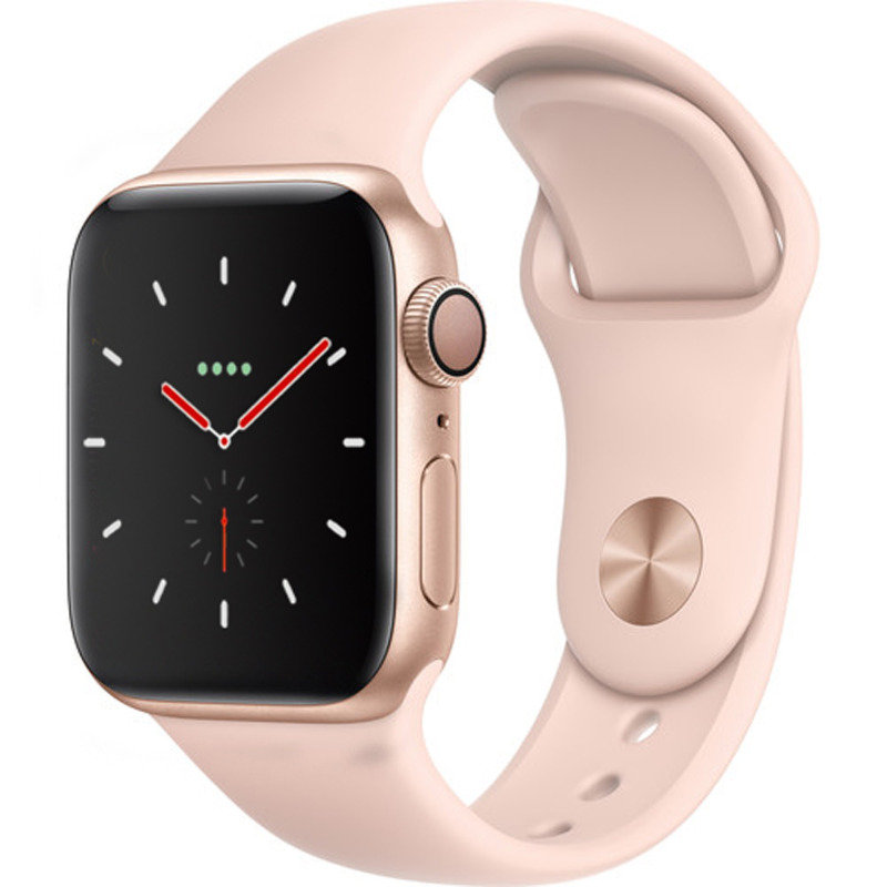 Buy Brand New Apple Watch Series 4 GPS, 44mm Gold Aluminium Case with Pink Sand Sport Loop