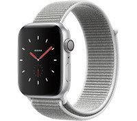 Apple Watch Series 4 GPS, 44mm Silver Aluminium Case with Seashell Sport Loop