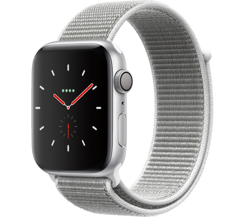 Apple Watch Series 4 GPS, 44mm Silver Aluminium Case with Seashell Sport Loop cheapest retail price