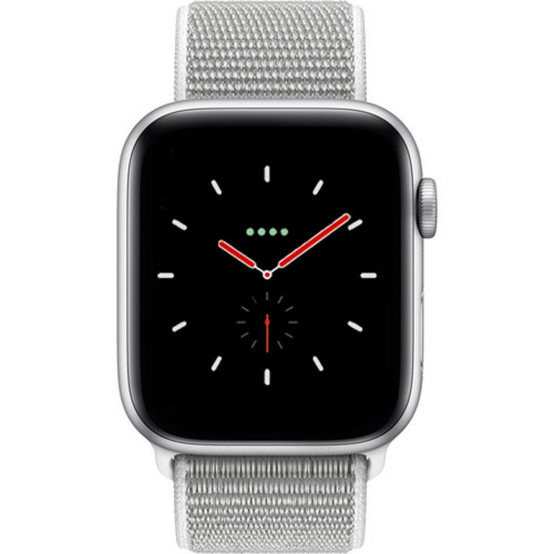 new products c53e3 cbaa8 Apple Watch Series 4 GPS + Cellular, 44mm Silver Aluminium Case with  Seashell Sport Loop