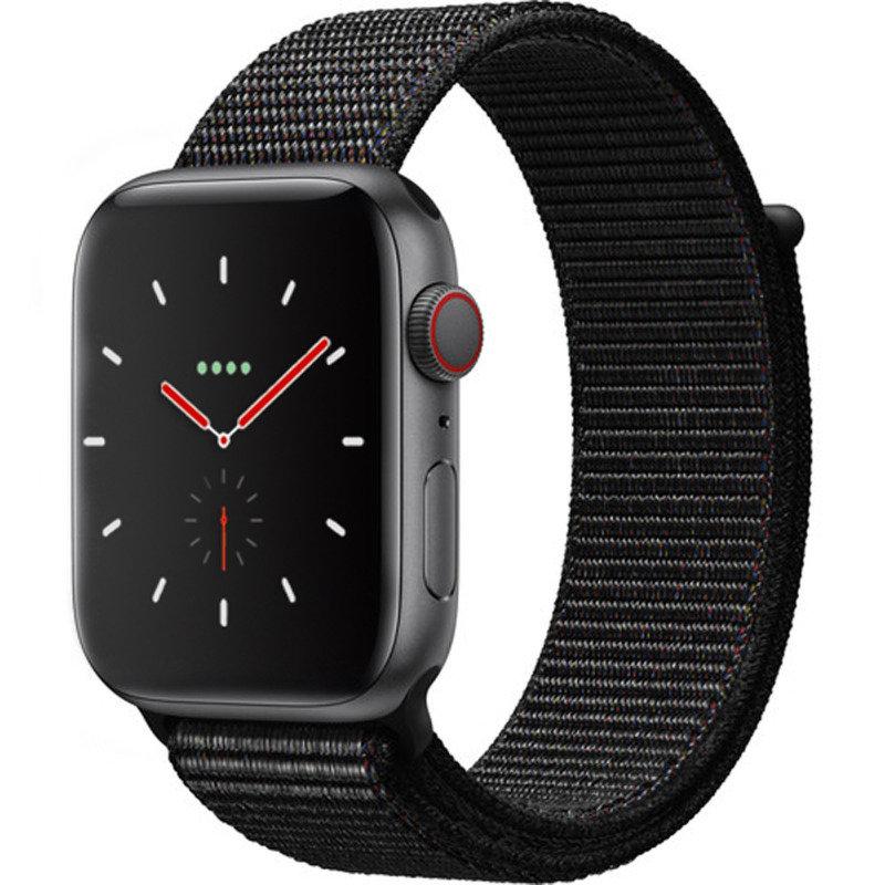 Apple Watch Series 4 GPS + Cellular, 44mm Space Grey Aluminium Case with Black Sport Loop