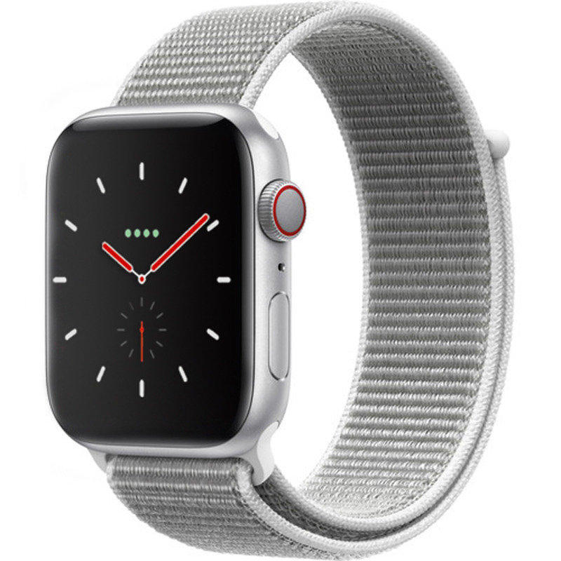 Apple Watch Series 4 GPS + Cellular, 40mm Silver Aluminium Case with Seashell Sport Loop cheapest retail price