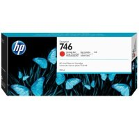 HP 746 Chromatic Red Original Designjet Ink Cartridge - Standard Yield 300ml - P2V81A