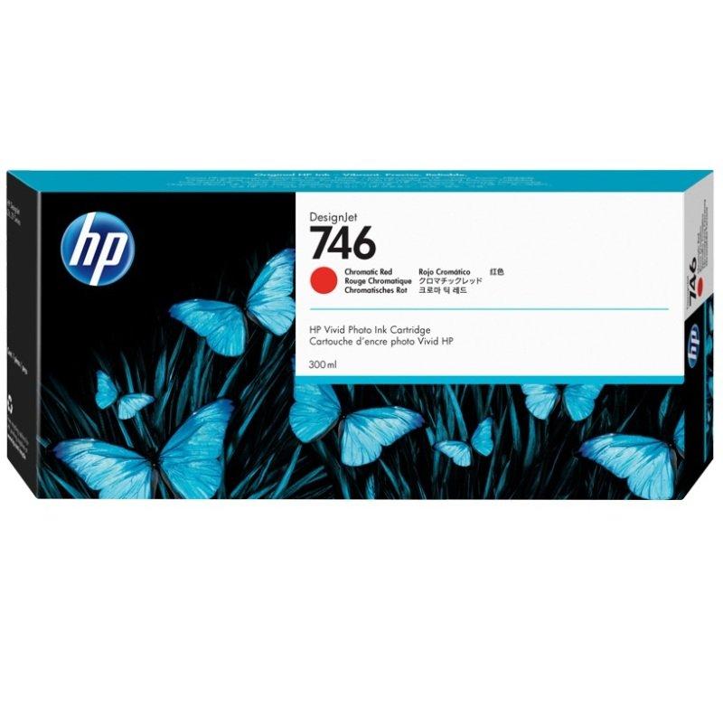 HP 746 Chromatic Red OriginalDesignjet Ink Cartridge - Standard Yield 300ml - P2V81A