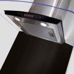 Curved Metal Splashback 600W x 750H - Black